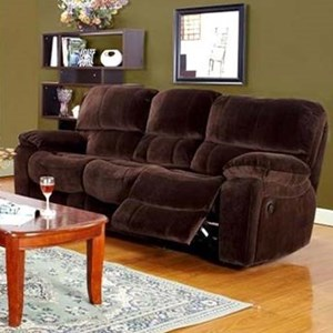 Casual Dual Reclining Sofa with Pillowtop Arms