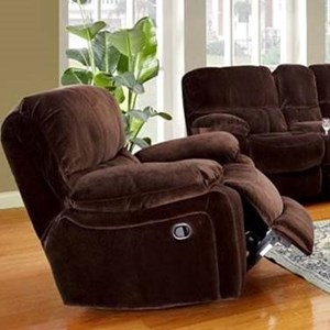 Casual Gliding Recliner with Pillowtop Arms