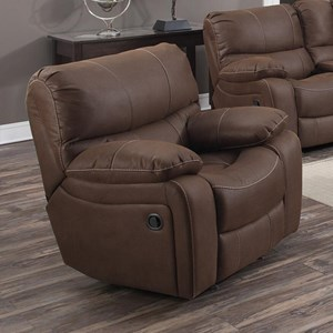 Casual Power Recliner with Pillowtop Arms