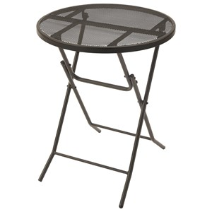 Metal Folding Table with Mesh Table Top