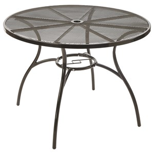 Metal Outdoor Table with Mesh Top