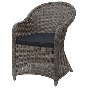 Cottage Style Patio Chair with Seat Cushions