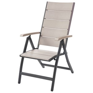 Outdoor Folding Chair with Blank Style Back