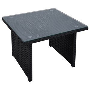 Glass Top Outdoor Side Table
