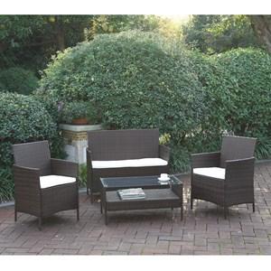 Four Piece Outdoor Conversation Lounge Set
