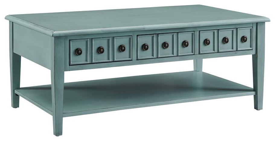 19A8213 TEAL TEAL COCKTAIL TABLE by Powell at Furniture Fair - North Carolina