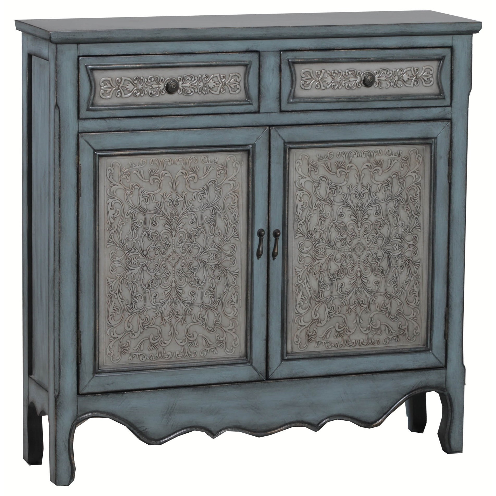 Accent Furniture Antique Blue & White Console by Powell at Nassau Furniture and Mattress