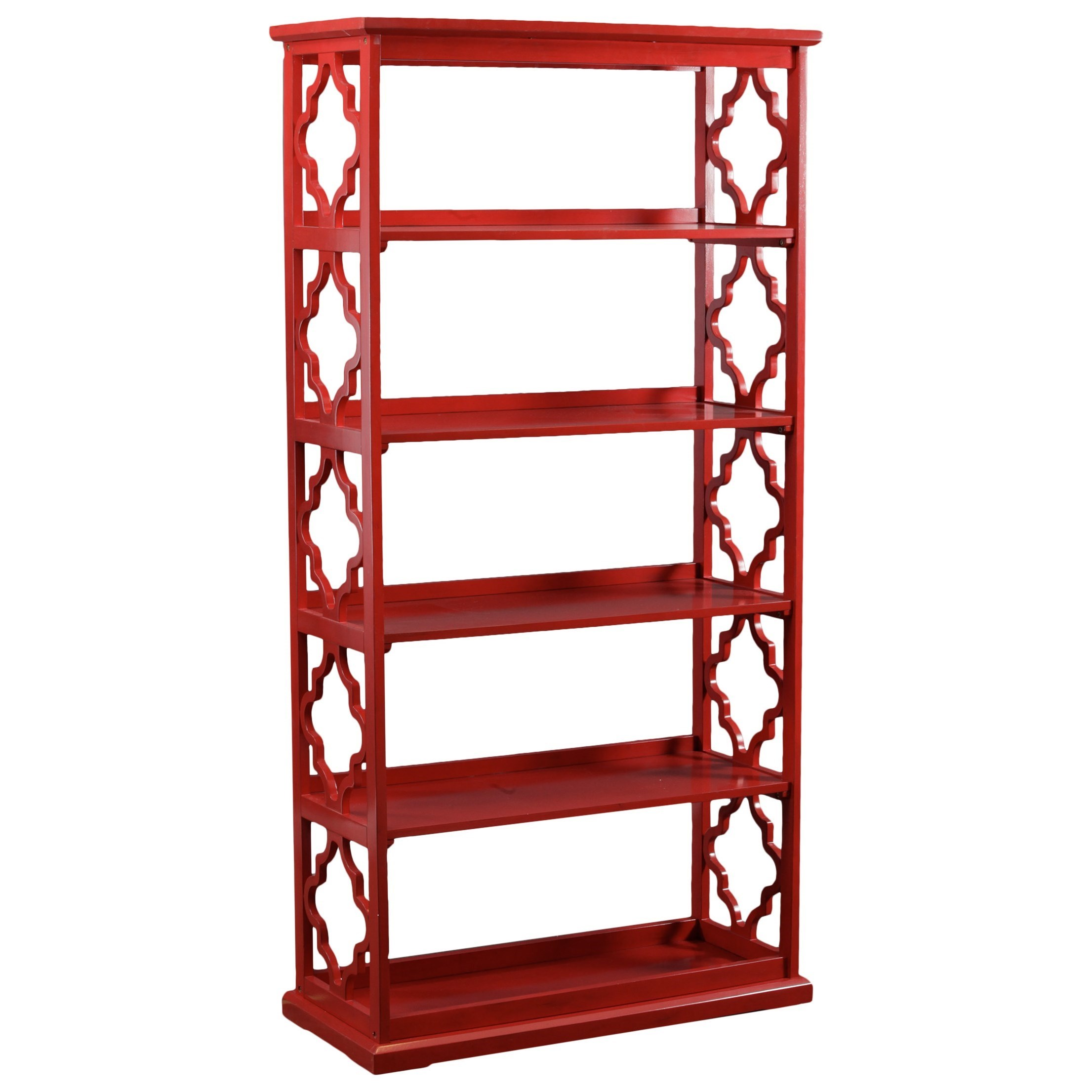 Accent Furniture Turner Bookcase Red by Powell at A1 Furniture & Mattress