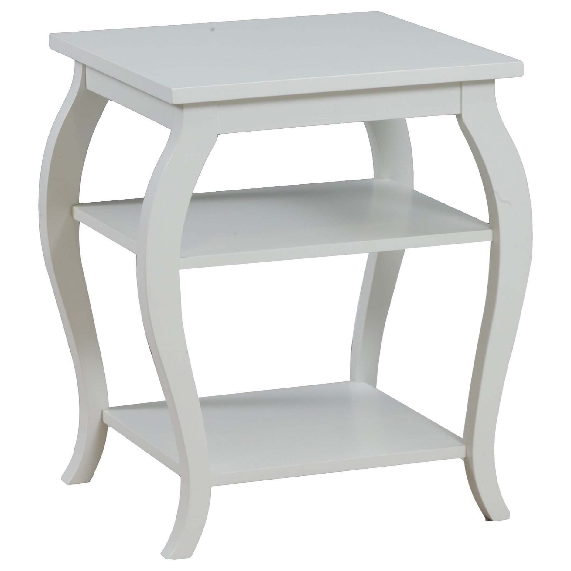 Accent Furniture Panorama White Table by Powell at A1 Furniture & Mattress