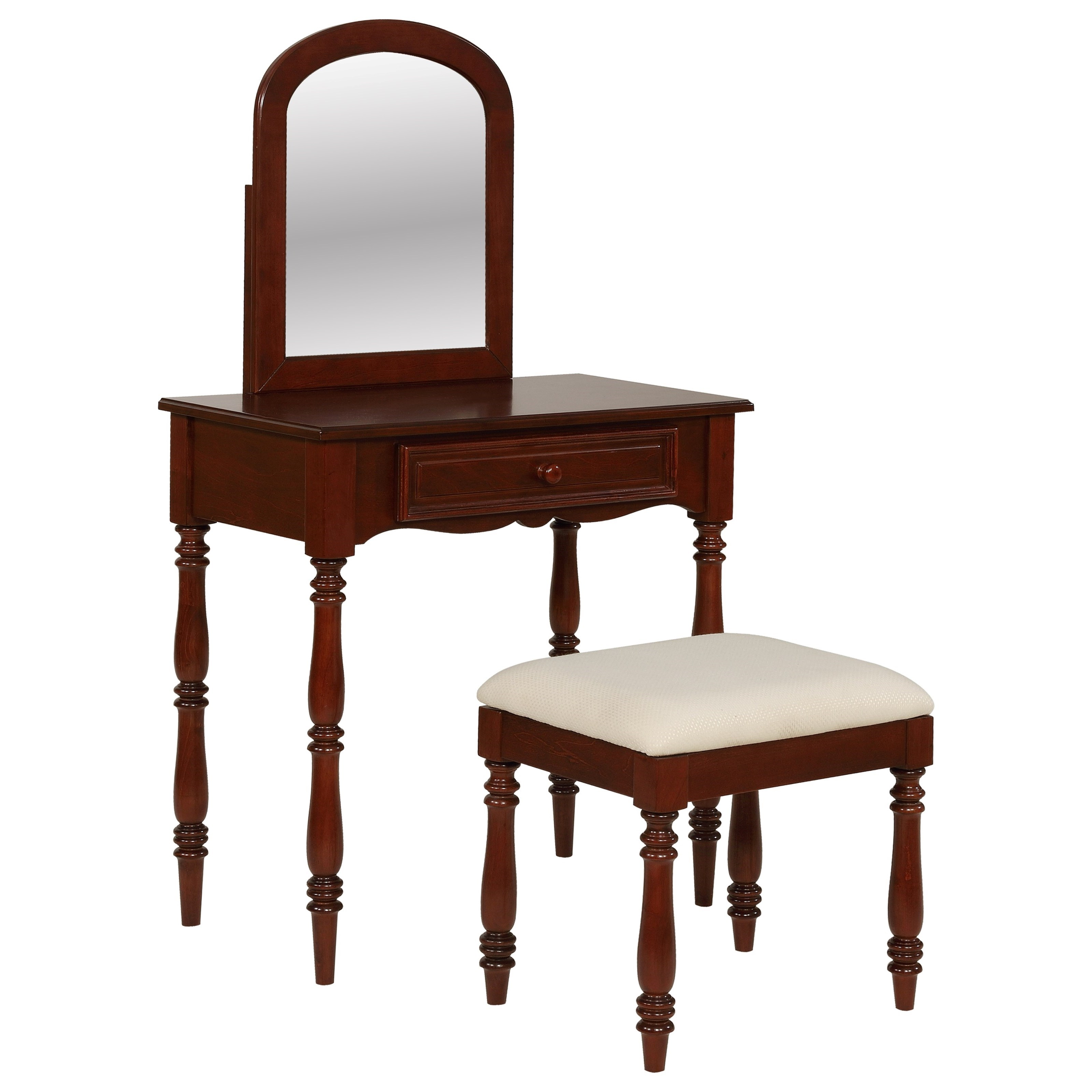 Accent Furniture Chadwick Vanity with Stool by Powell at Lynn's Furniture & Mattress