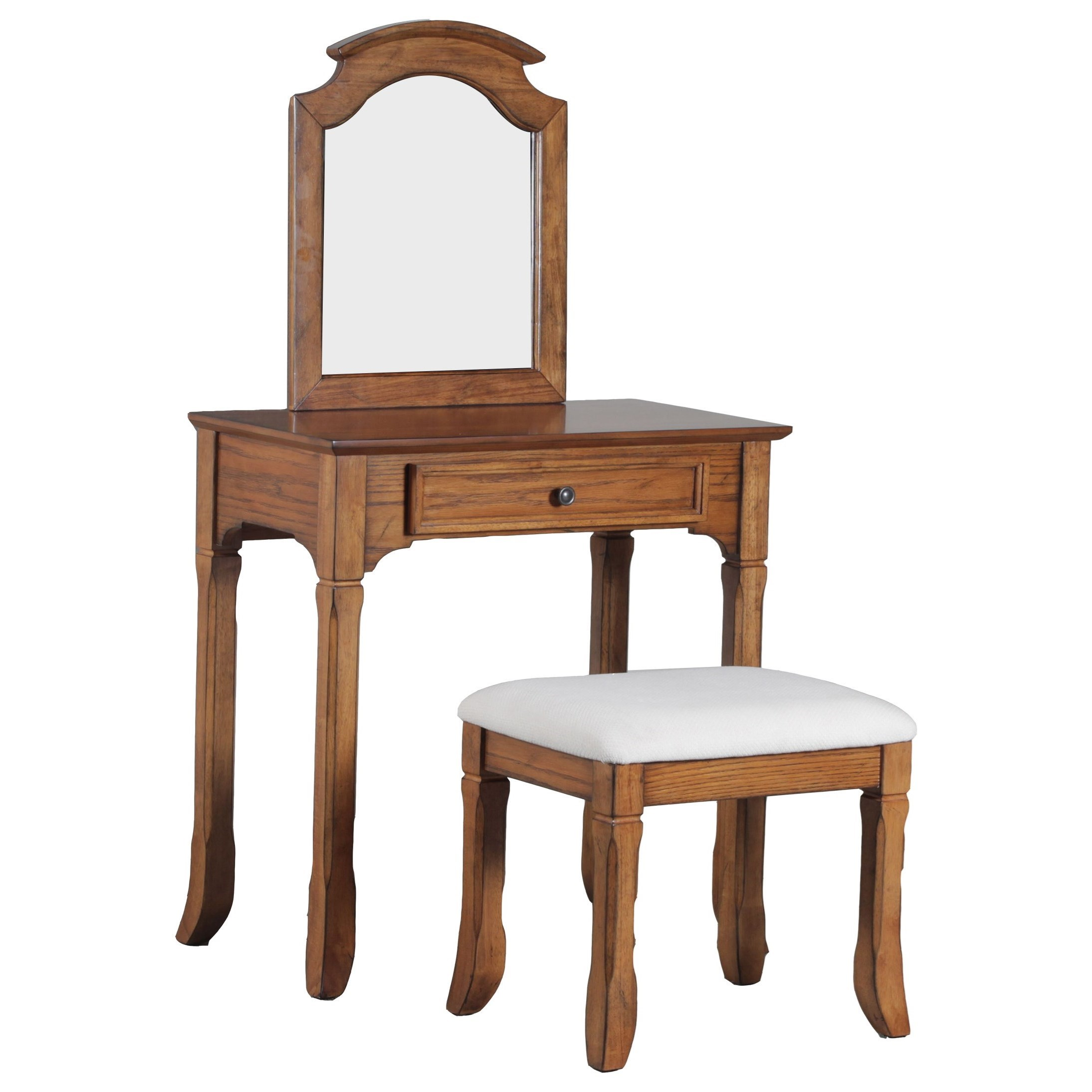 Accent Furniture Vanity with Stool by Powell at Lynn's Furniture & Mattress