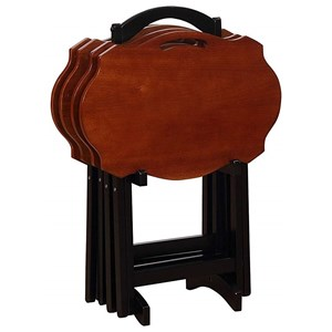 Serpentine Black Tray Table