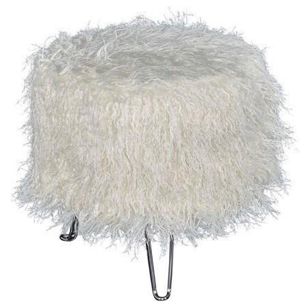 Accent Furniture Faux Fur Ottoman by Powell at Bullard Furniture