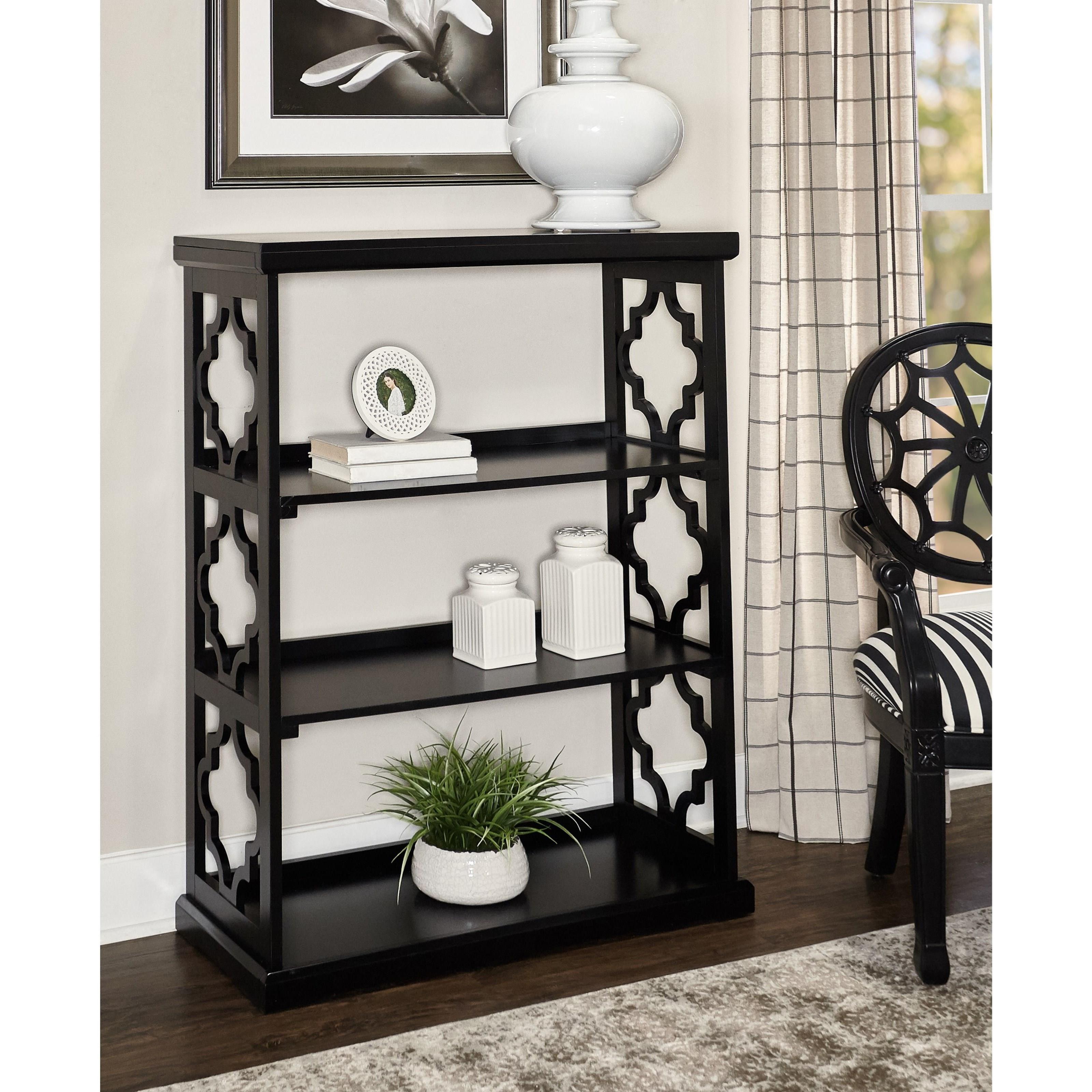 Accent Furniture Conrad Medium Bookcase Black by Powell at A1 Furniture & Mattress