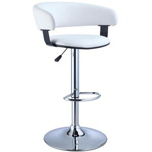 Powell Misc. Bars & Game Room Barrel & Chrome Bar Stool