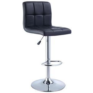 Powell Misc. Bars & Game Room Black Quilted Bar Stool
