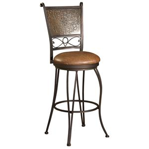 Powell Bar Stools & Tables 30 inch Stamped Back Bar Stool
