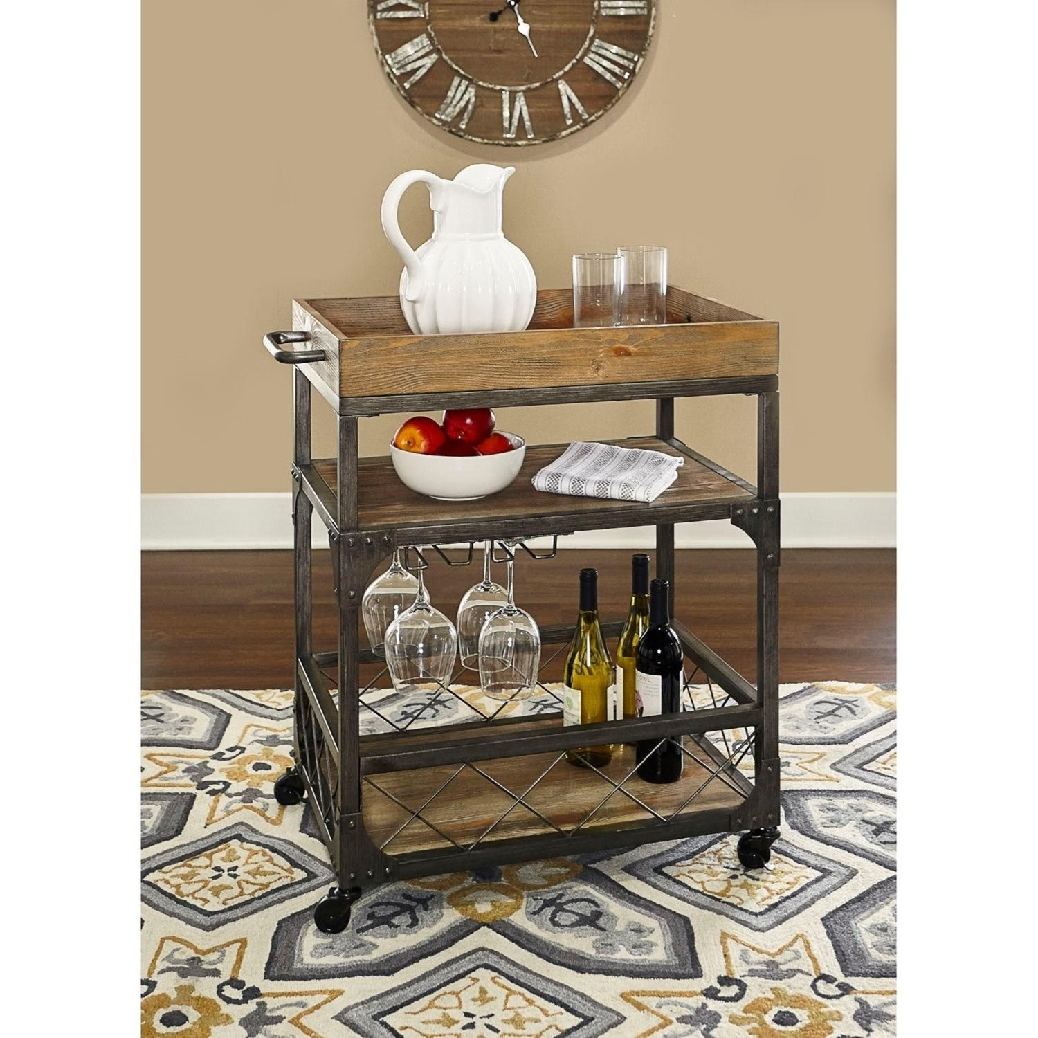 Misc. Bars & Game Room Collin Bar Cart by Powell at A1 Furniture & Mattress