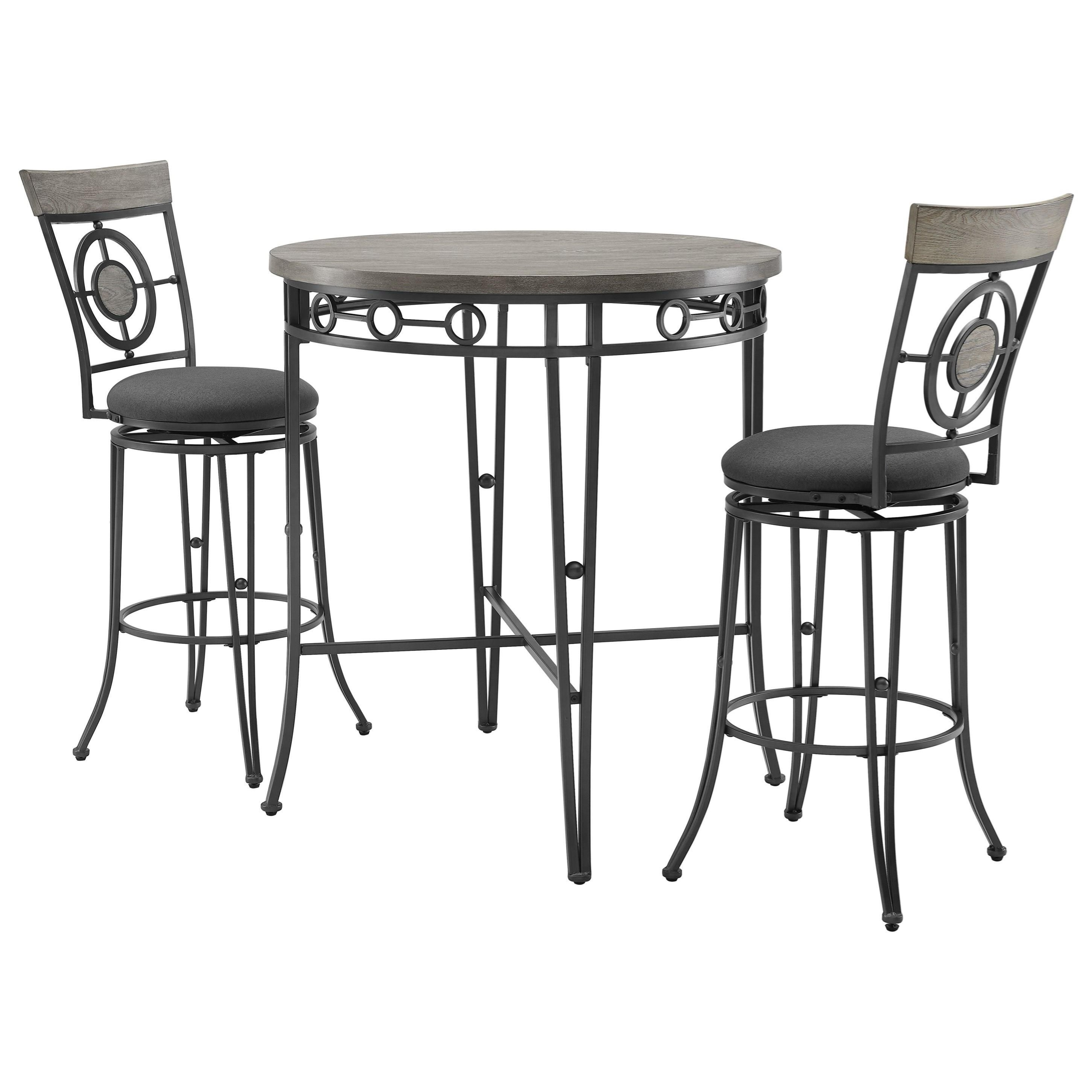 Barker 3-Piece Pub Table and Chair Set by Powell at Nassau Furniture and Mattress