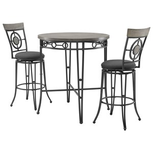3-Piece Pub Table and Chair Set