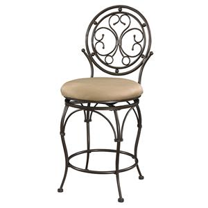 Powell Big and Tall Circle Back Counter Stool