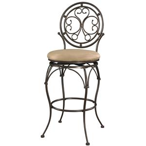 Powell Big and Tall Circle Back Barstool