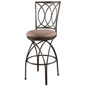 Powell Big and Tall Metal Crossed Legs Bar Stool