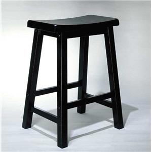 Powell Black Bar Stool