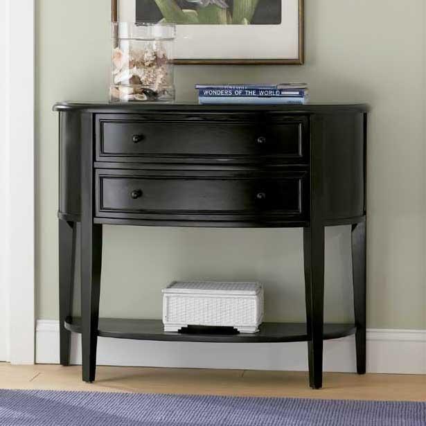 Black Sofa Table by Powell at Bullard Furniture