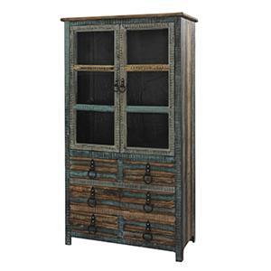 High Cabinet w/ Glass Doors