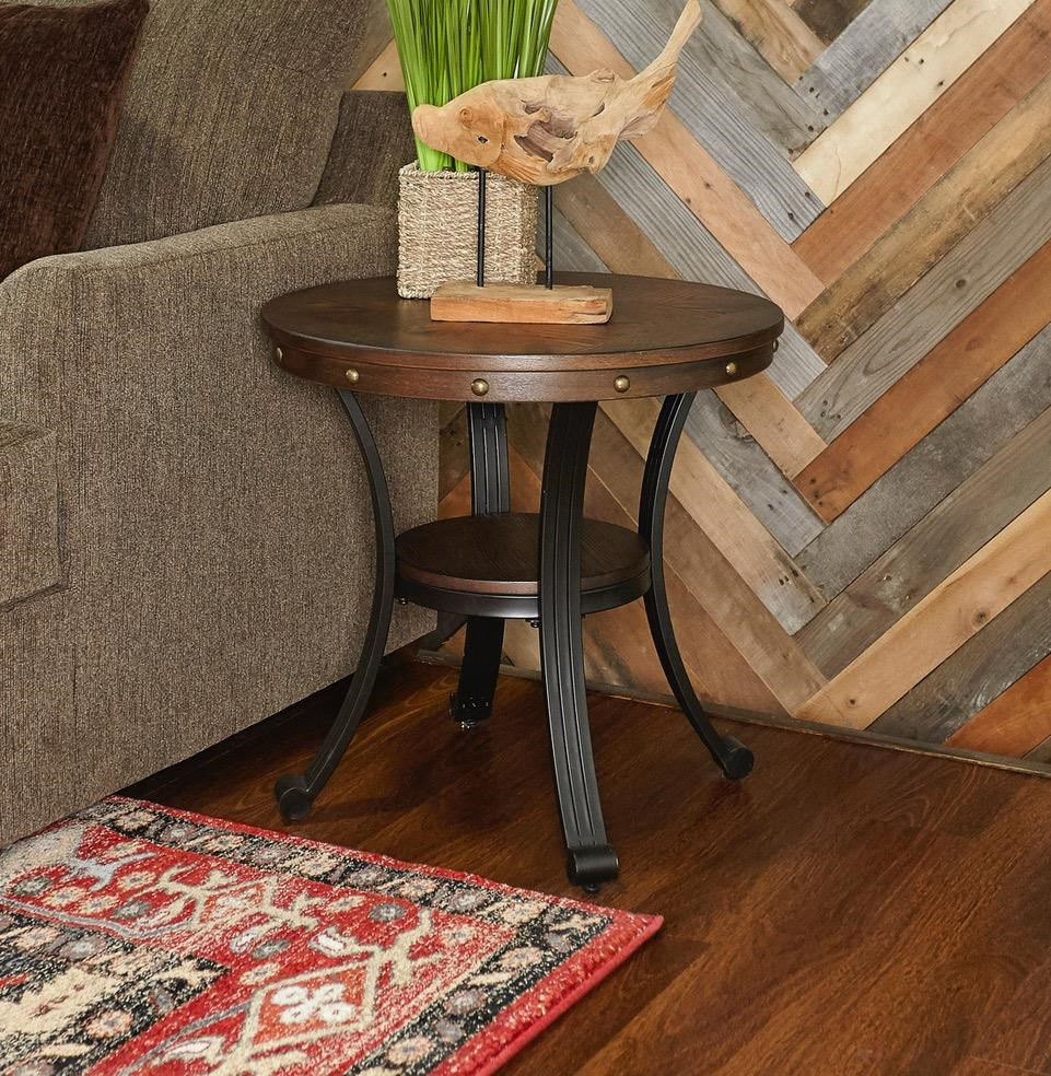 Franklin Round End Table by Powell at Furniture Fair - North Carolina