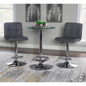 Contemporary Adjustable Height Pub Table Set