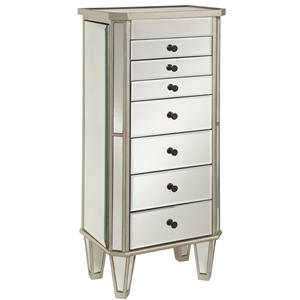 Powell Jewelry Armoire Mirrored Jewelry Armoire