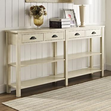 Accents Cream Console by Powell at Nassau Furniture and Mattress