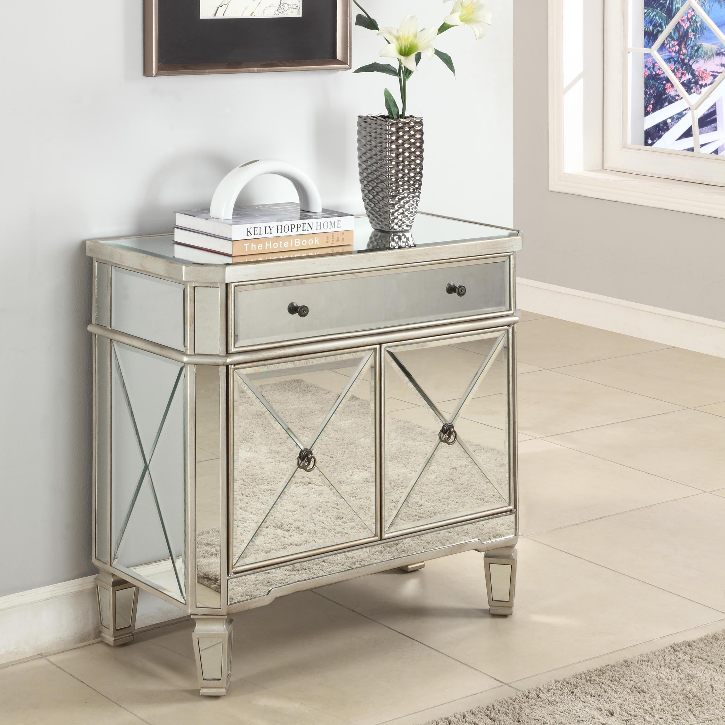 Accents Mirrored Console by Powell at Bullard Furniture