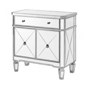 Mirrored 1 Drawer, 2 Door Console