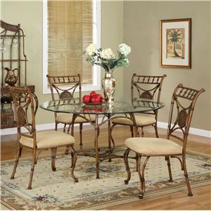 Mangana Brown Bar Dining Pedestal Table