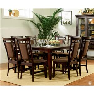 Espresso Dining Table & 8 Side Chairs