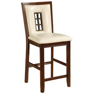 Bradley Counter Stool with Upholstered Faux Leather Seat