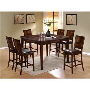 7 Piece Flynn Gathering Set Table & Stool Set