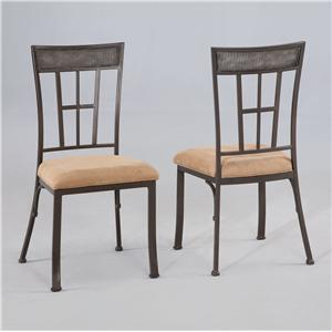 Light Patina Bronze with Grey Dining Side Chair
