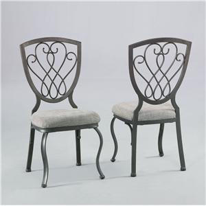 Antique Pewter Dining Side Chair