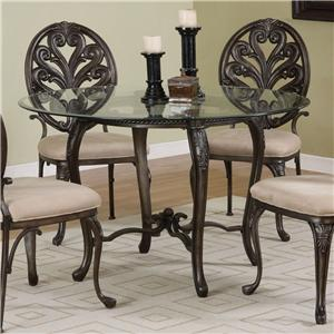 Aged Pewter with Bronze Dining Pedestal
