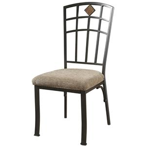 Jefferson Dining Side Chair with Diamond Slate Back