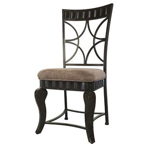 Wayland Metal Dining Side Chair with Upholstered Seat