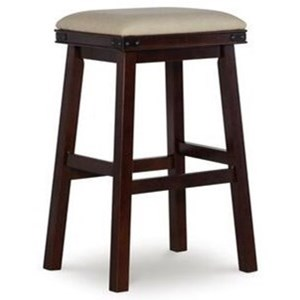 Contemporary Barstool with Upholstered Seat