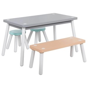 Youth Table and Chair Setwith Bench