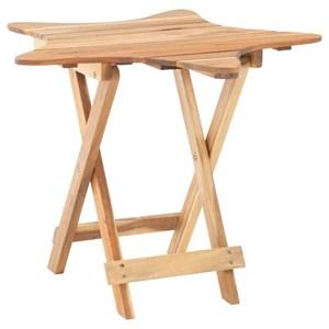 Coastal Folding Table with Star Design