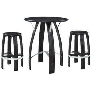3-Piece Bar Height Pub Table Set