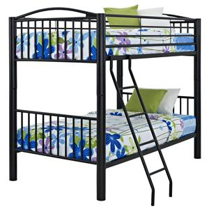 Powell Youth Beds and Bunks Full Metal Bunk Bed